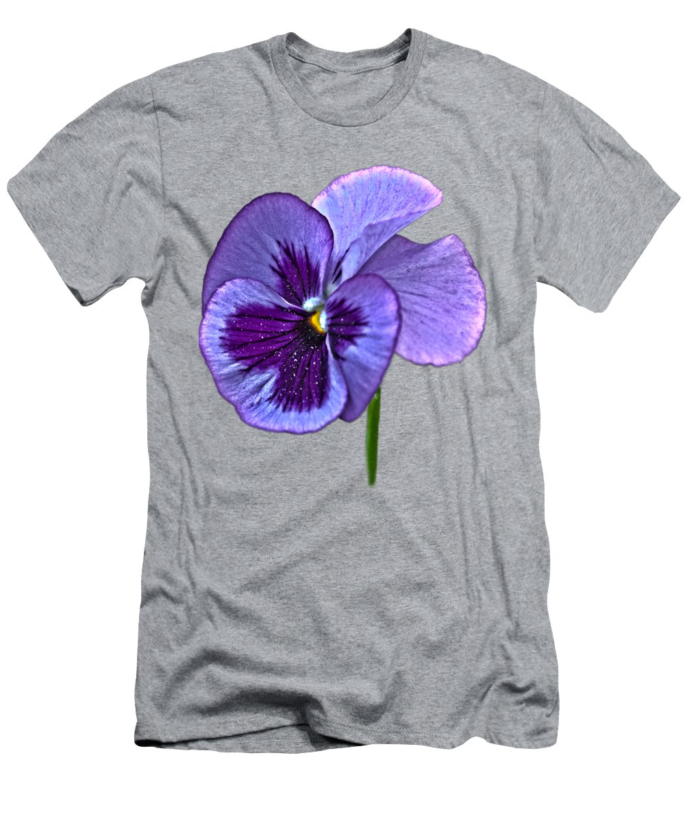 A Single Purple Pansy On A Transparent Background T-Shirt for Sale ...