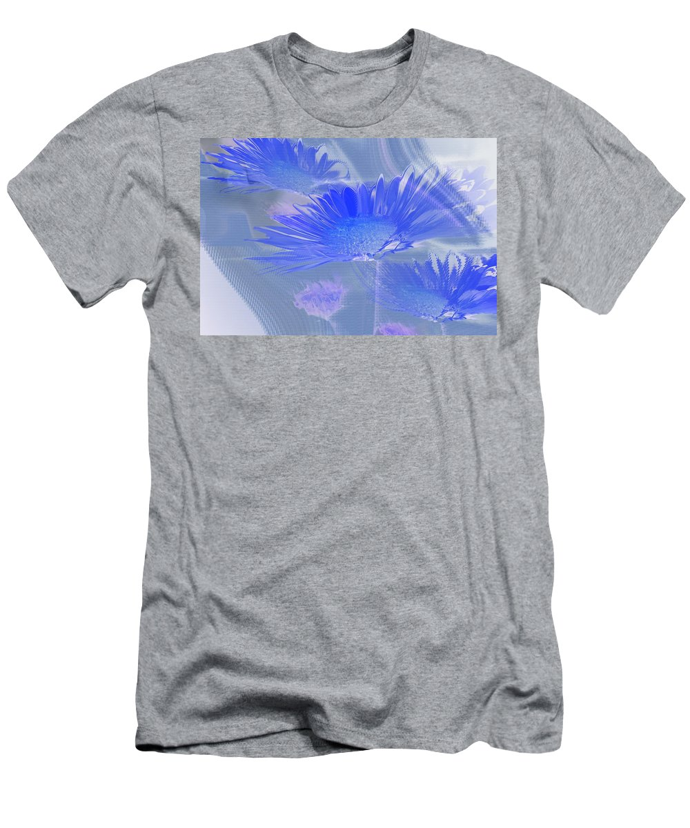 Abstract Men's T-Shirt (Athletic Fit) featuring the photograph A Slanting Blue Wind by Jeff Swan
