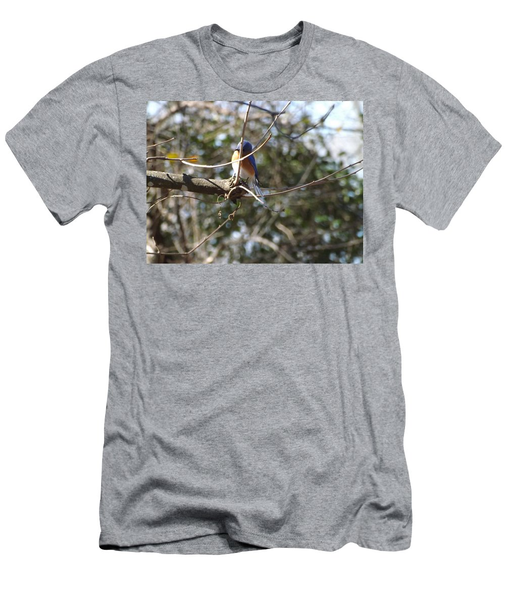 Men's T-Shirt (Athletic Fit) featuring the photograph A Touch Of Blue 5 by Mark Dibble
