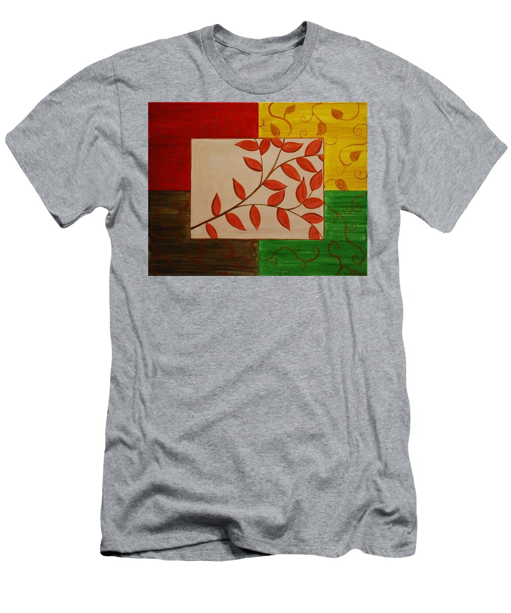 Fall Men's T-Shirt (Athletic Fit) featuring the painting A Touch Of Fall by Emily Page
