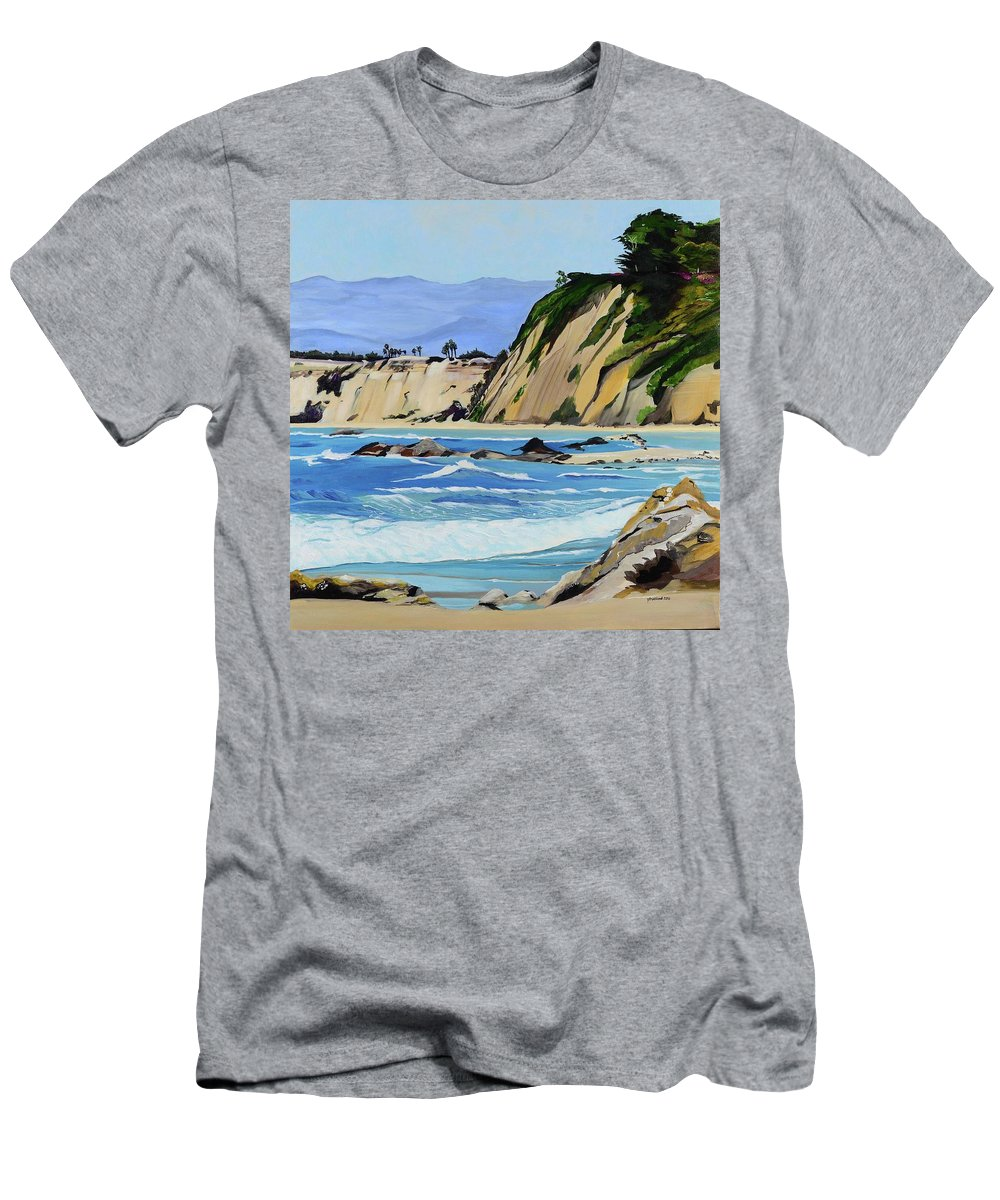 Beach Men's T-Shirt (Athletic Fit) featuring the painting A Walk With Steve by Pamela Trueblood