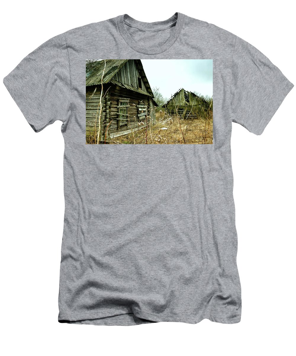 Abandoned Men's T-Shirt (Athletic Fit) featuring the photograph Abandoned House by Aliaksandr Alin