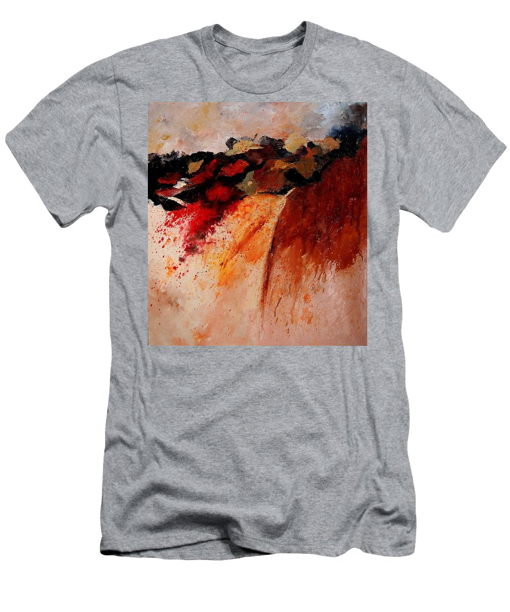 Abstract Men's T-Shirt (Athletic Fit) featuring the painting Abstract 010607 by Pol Ledent