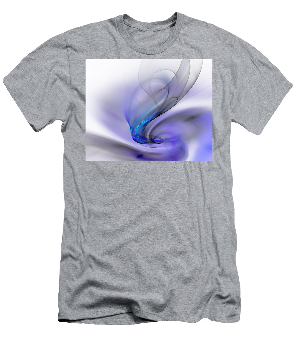 Digital Painting Men's T-Shirt (Athletic Fit) featuring the digital art Abstract 053110 by David Lane