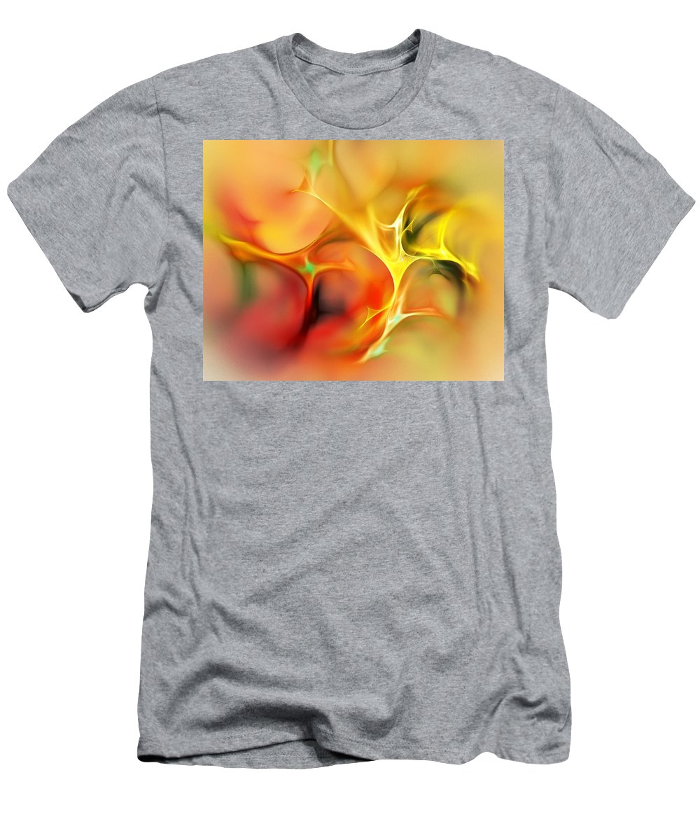 Abstract T-Shirt featuring the digital art Abstract 061410A by David Lane