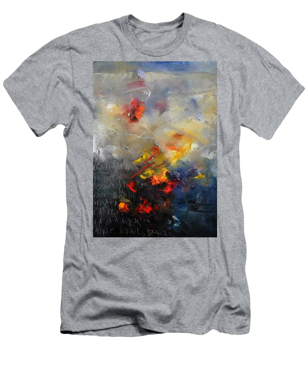 Abstract Men's T-Shirt (Athletic Fit) featuring the painting Abstract 0805 by Pol Ledent