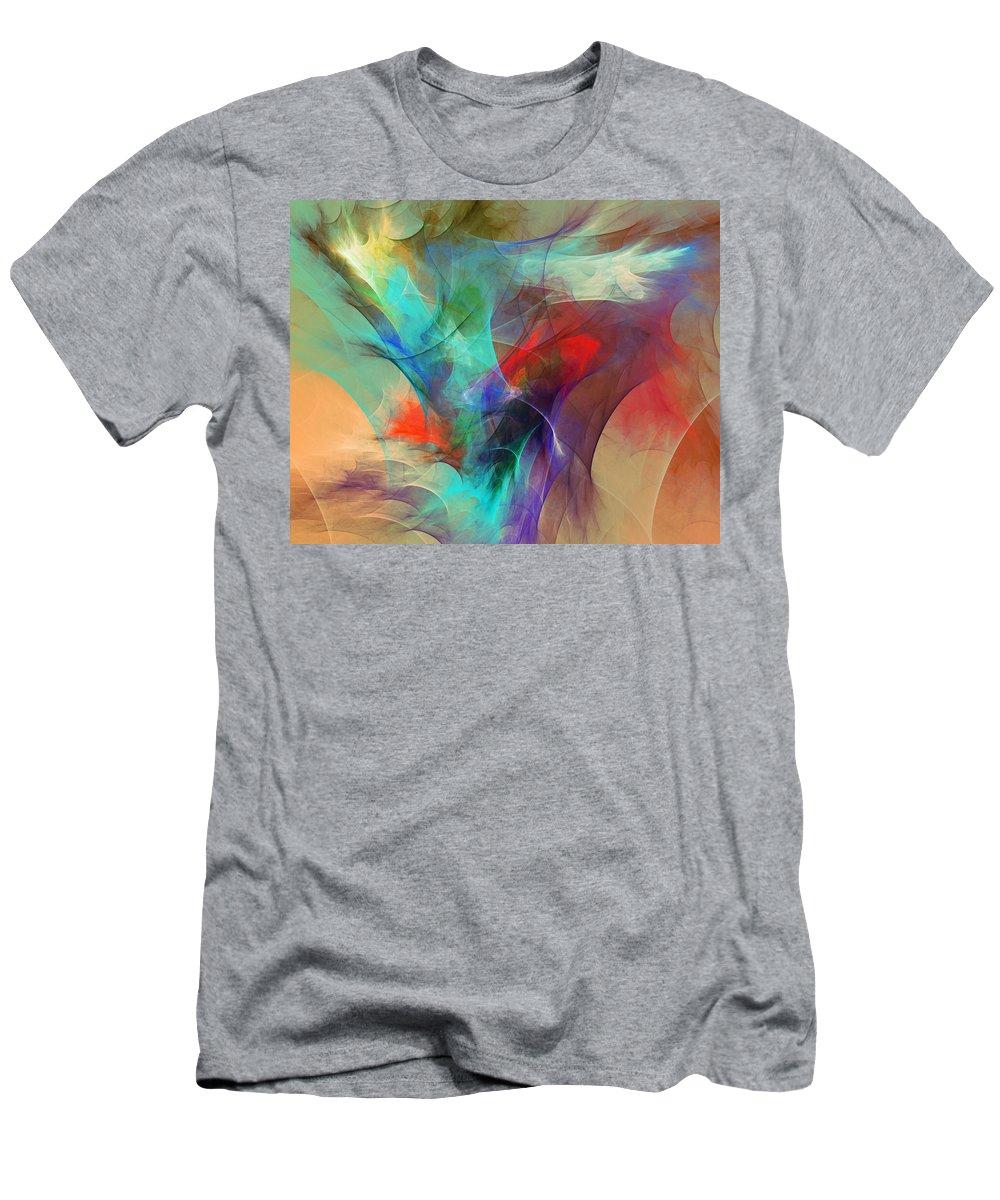 Fine Art Digital Art Men's T-Shirt (Athletic Fit) featuring the digital art Abstract 103010 by David Lane