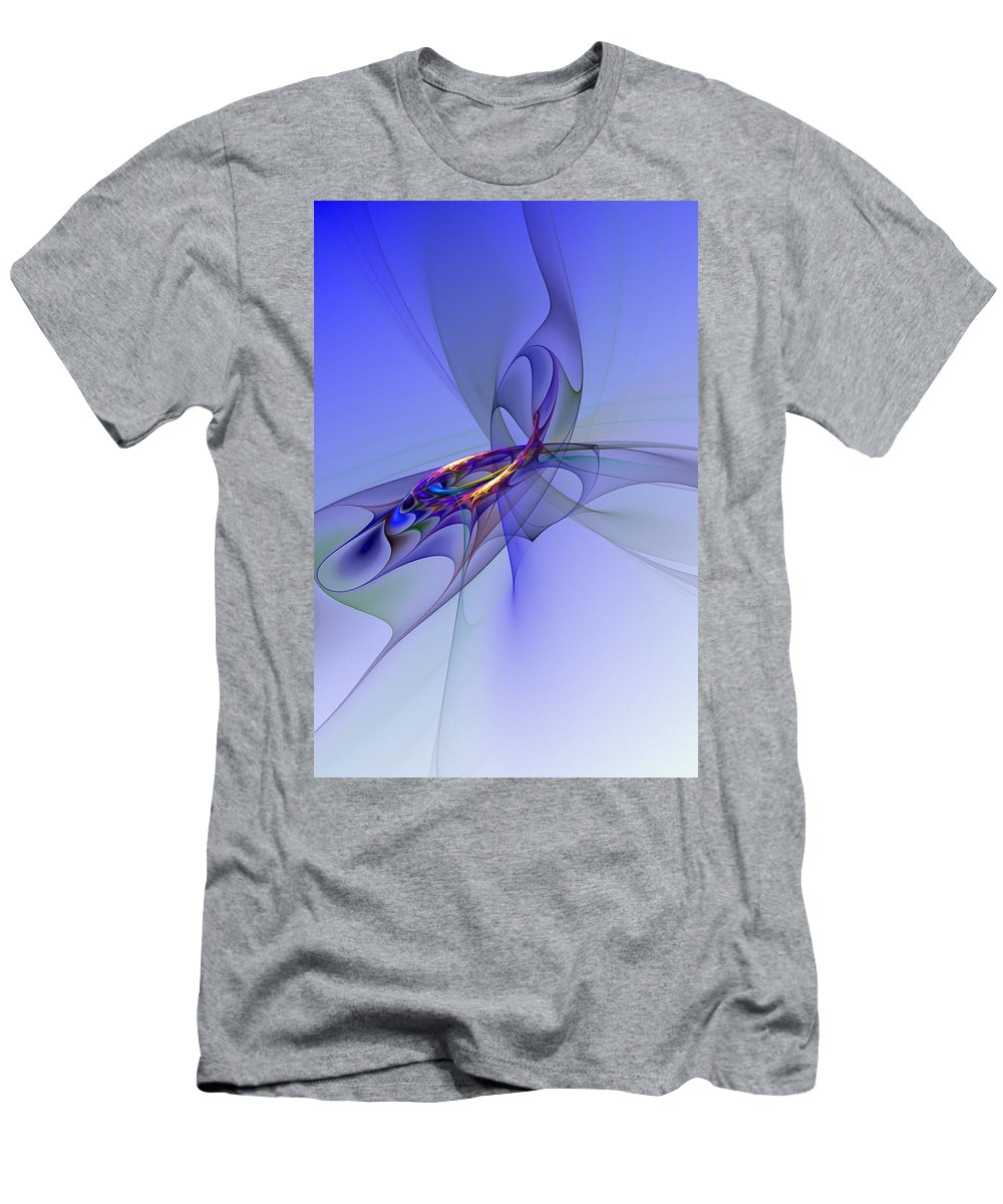 Fine Art Digital Art Men's T-Shirt (Athletic Fit) featuring the digital art Abstract 110210 by David Lane