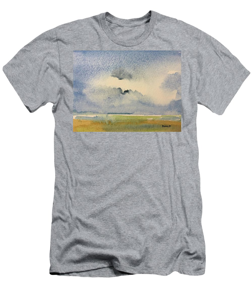 Abstract Men's T-Shirt (Athletic Fit) featuring the painting September 5 by Bonny Butler