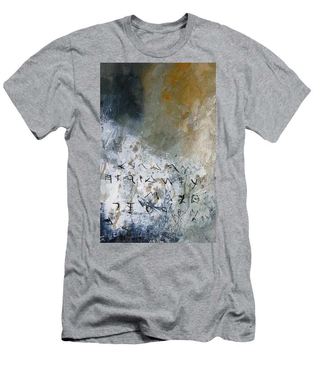 Abstract Men's T-Shirt (Athletic Fit) featuring the painting Abstract 904023 by Pol Ledent