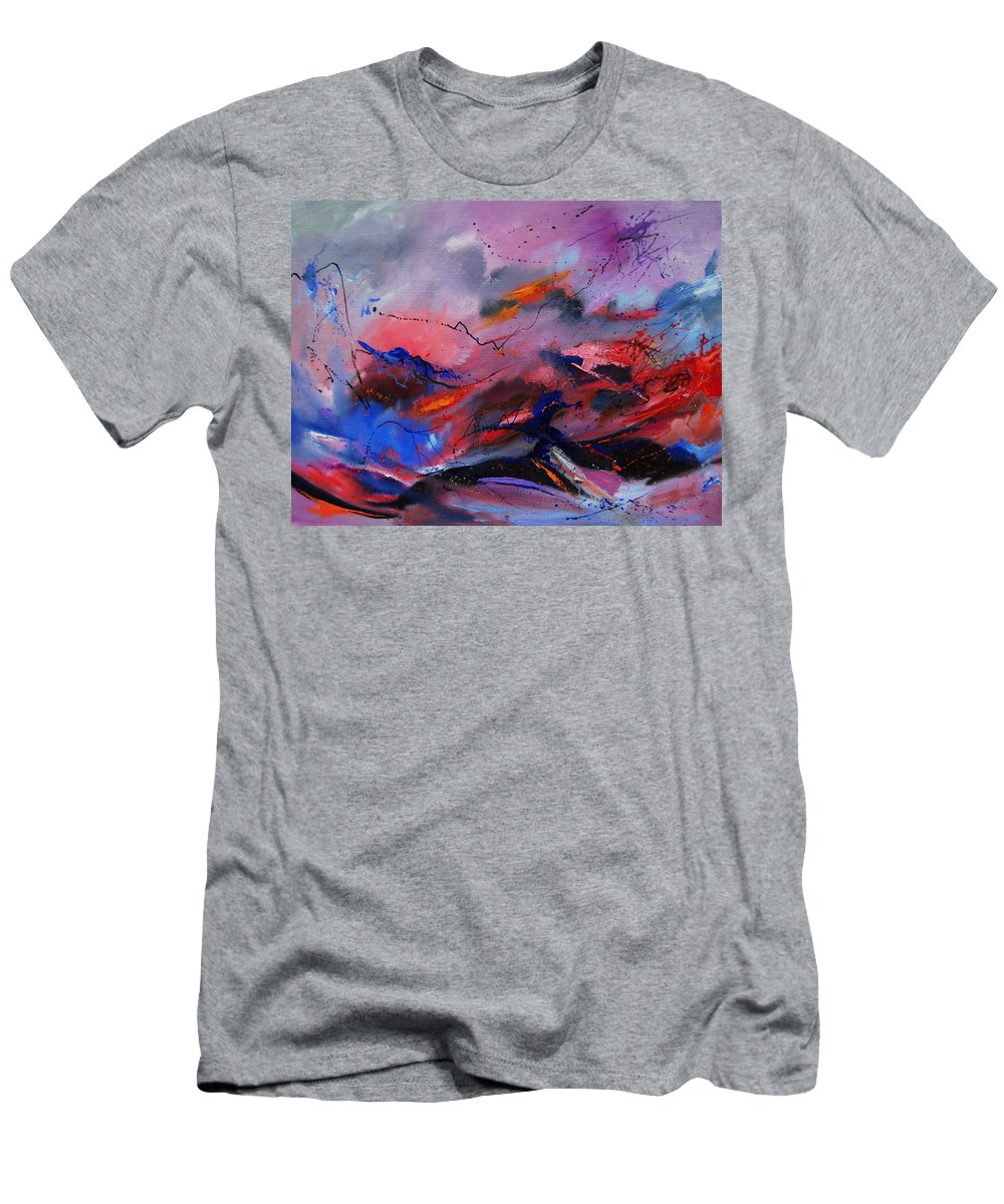 Abstract Men's T-Shirt (Athletic Fit) featuring the painting Abstract 971260 by Pol Ledent