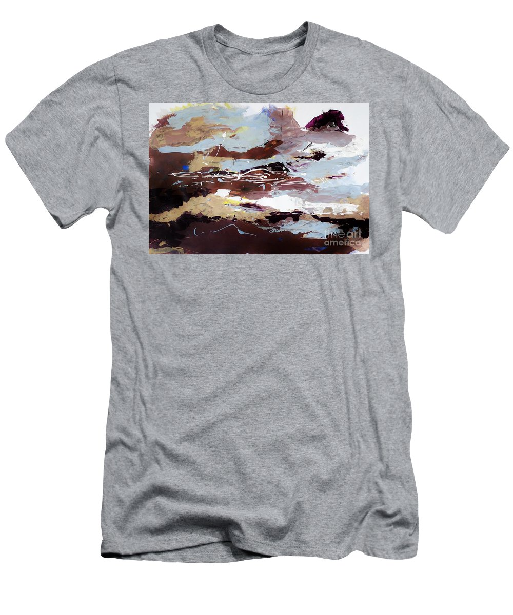 Acrylic Men's T-Shirt (Athletic Fit) featuring the painting Abstract Art Project #12 by Karina Plachetka
