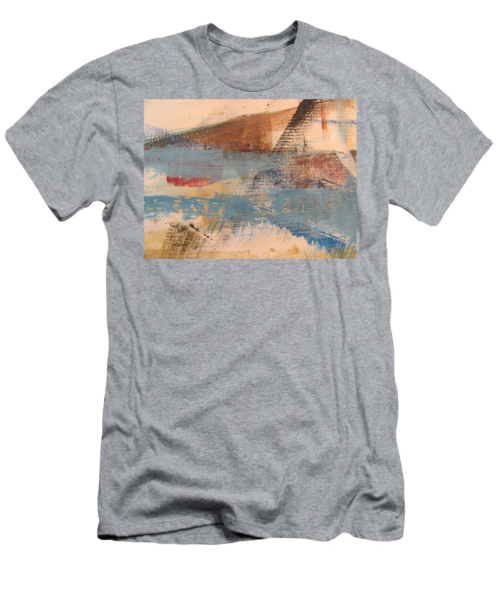 Abstract Men's T-Shirt (Athletic Fit) featuring the painting Abstract At Sea 2 by Anita Burgermeister