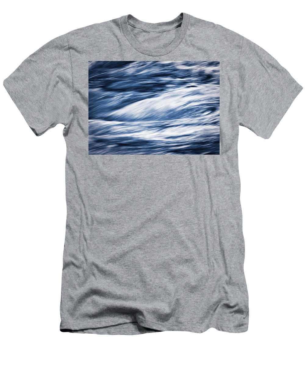 Illustration Men's T-Shirt (Athletic Fit) featuring the photograph Abstract Blue Background Wild River by Jozef Jankola