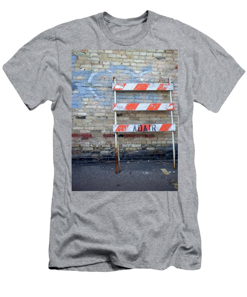 Industrial Men's T-Shirt (Athletic Fit) featuring the photograph Abstract Brick 1 by Anita Burgermeister