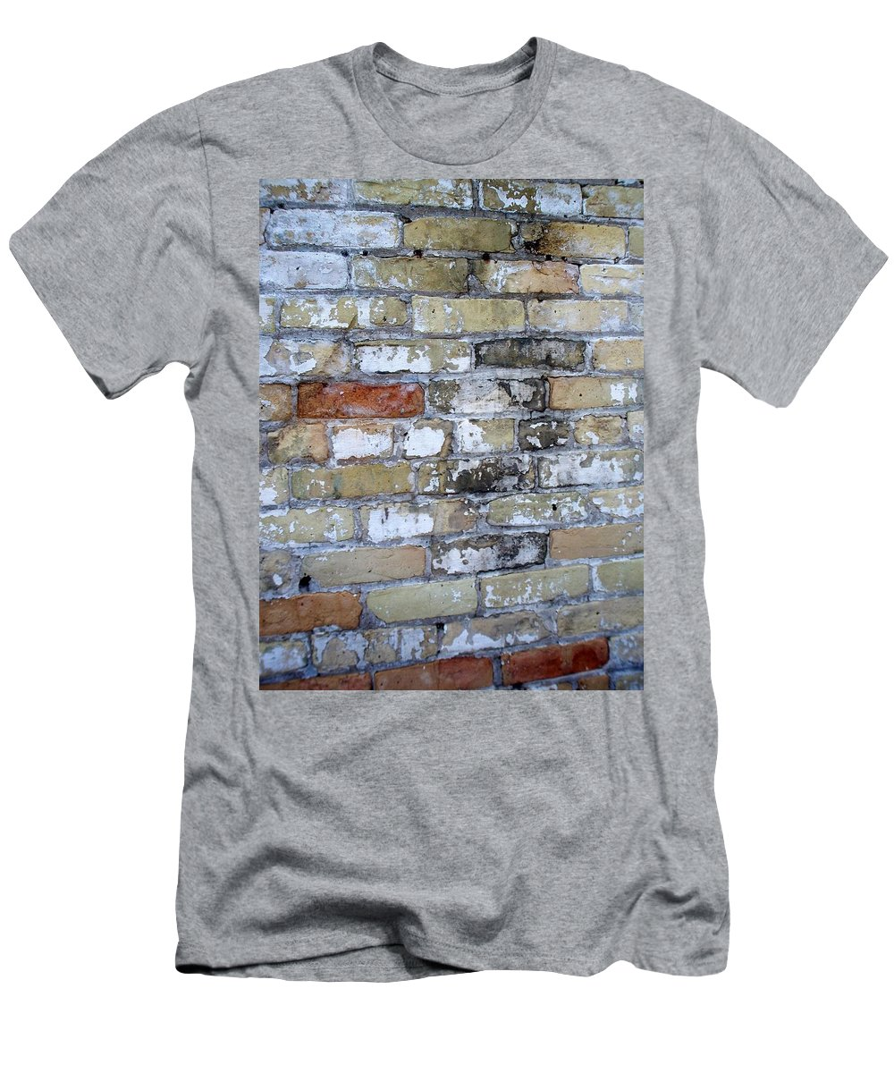 Industrial Men's T-Shirt (Athletic Fit) featuring the photograph Abstract Brick 10 by Anita Burgermeister