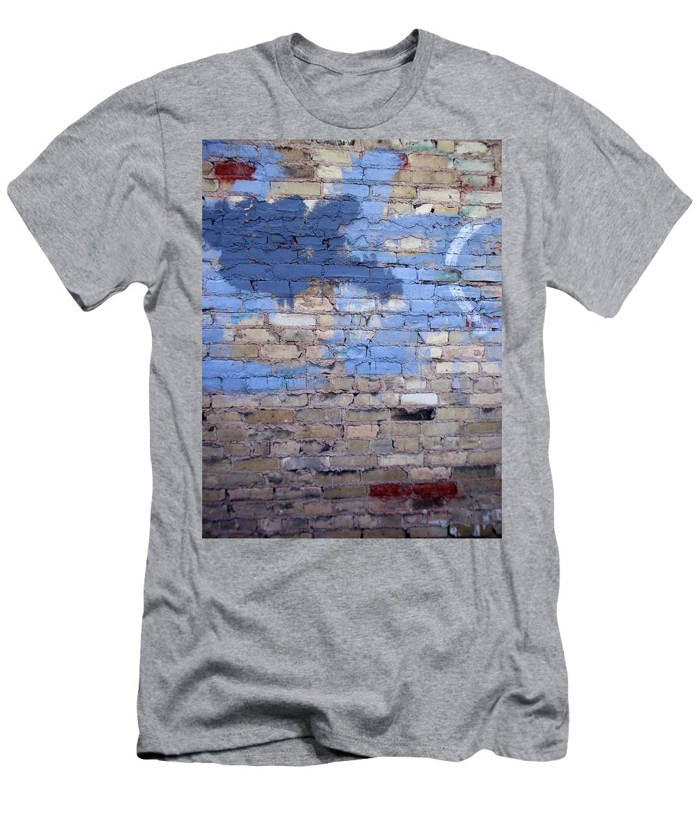 Industrial Men's T-Shirt (Athletic Fit) featuring the photograph Abstract Brick 3 by Anita Burgermeister