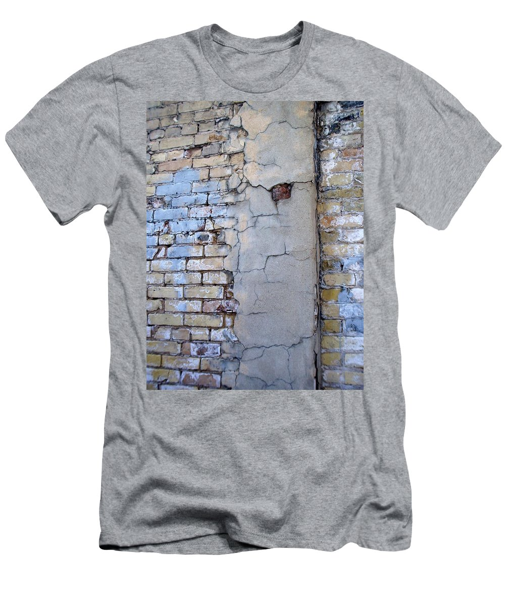 Industrial Men's T-Shirt (Athletic Fit) featuring the photograph Abstract Brick 4 by Anita Burgermeister