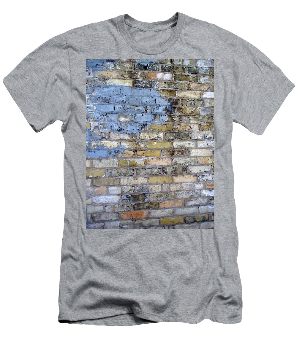 Industrial Men's T-Shirt (Athletic Fit) featuring the photograph Abstract Brick 6 by Anita Burgermeister