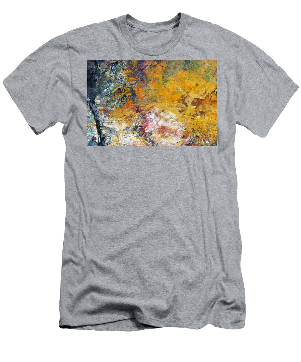 Craftsmanship Men's T-Shirt (Athletic Fit) featuring the painting Abstract Composite by Michal Boubin