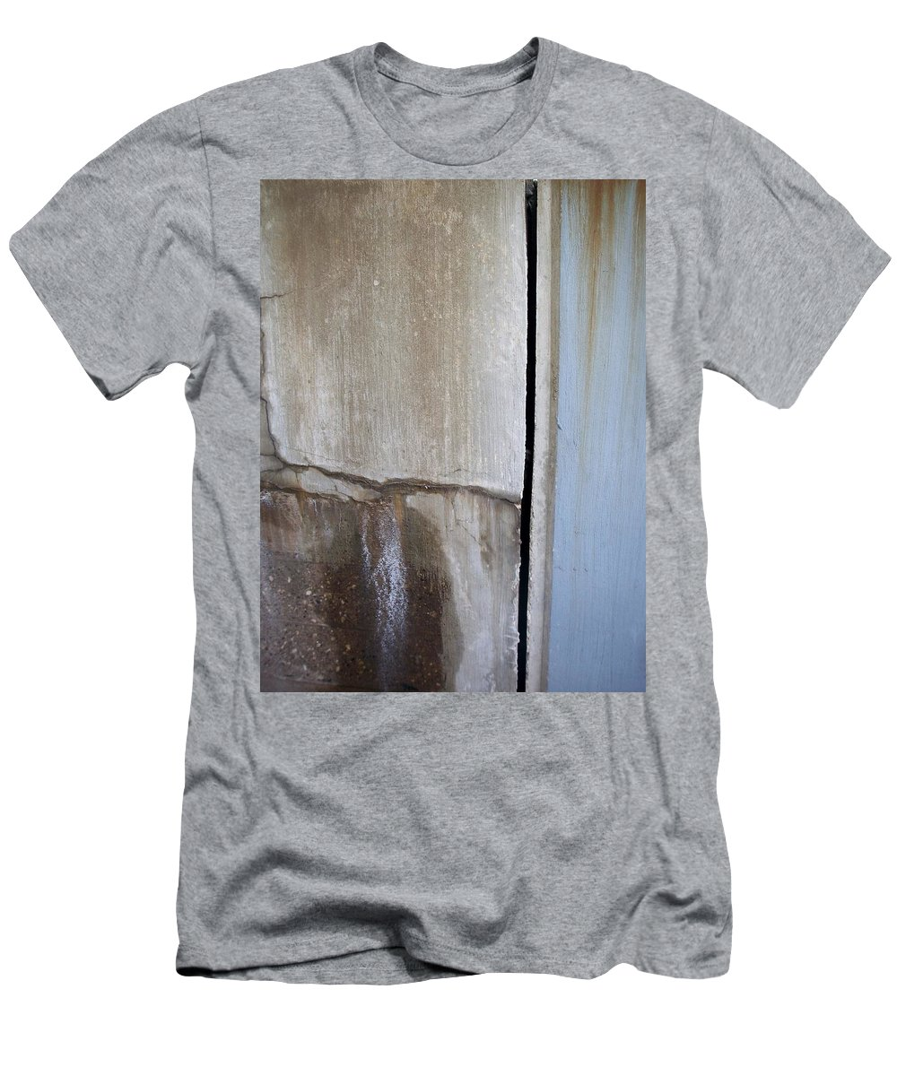Industrial. Urban Men's T-Shirt (Athletic Fit) featuring the photograph Abstract Concrete 1 by Anita Burgermeister