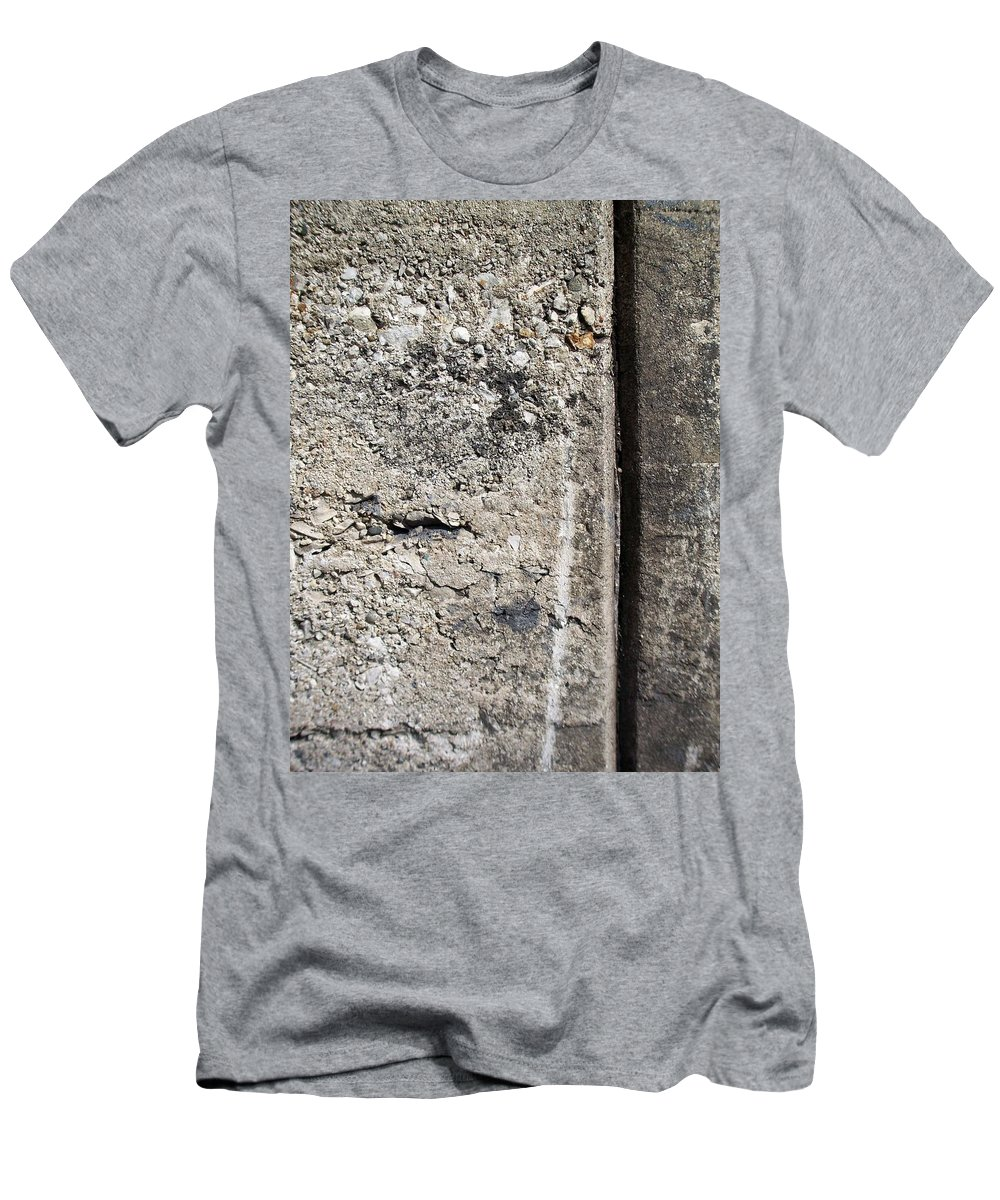 Industrial. Urban Men's T-Shirt (Athletic Fit) featuring the photograph Abstract Concrete 16 by Anita Burgermeister