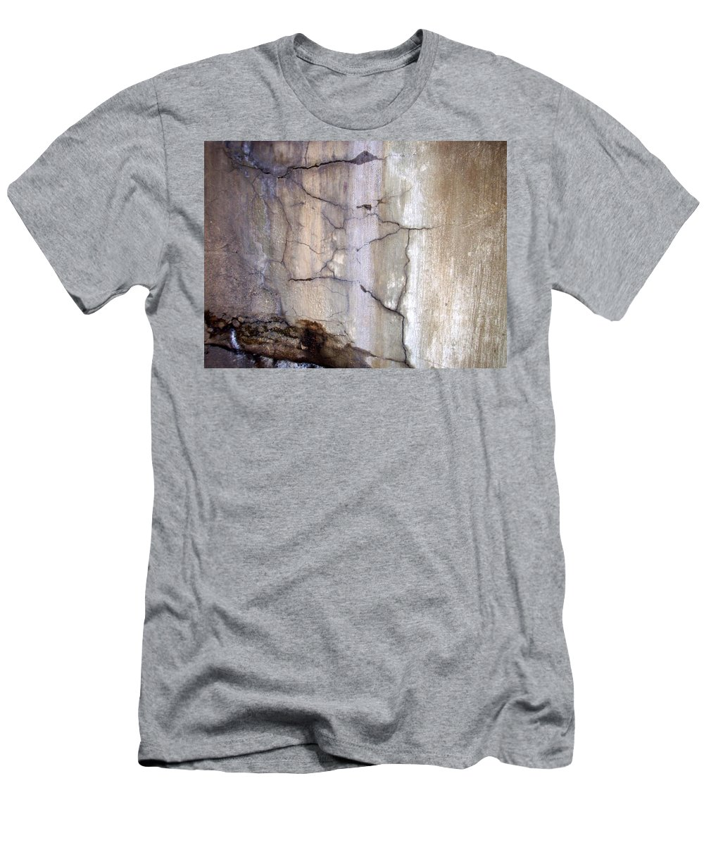 Industrial. Urban Men's T-Shirt (Athletic Fit) featuring the photograph Abstract Concrete 2 by Anita Burgermeister