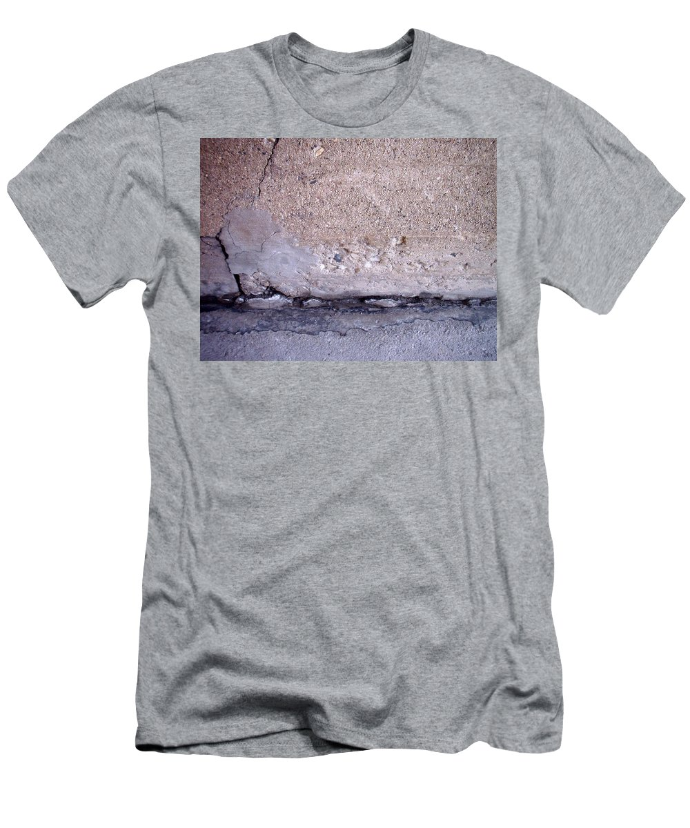 Industrial. Urban Men's T-Shirt (Athletic Fit) featuring the photograph Abstract Concrete 4 by Anita Burgermeister