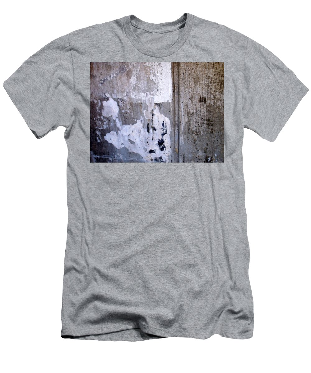 Industrial. Urban Men's T-Shirt (Athletic Fit) featuring the photograph Abstract Concrete 6 by Anita Burgermeister