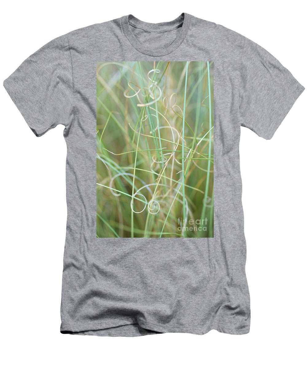 Floral Men's T-Shirt (Athletic Fit) featuring the photograph Abstract Curly Grass One by Brooke Roby