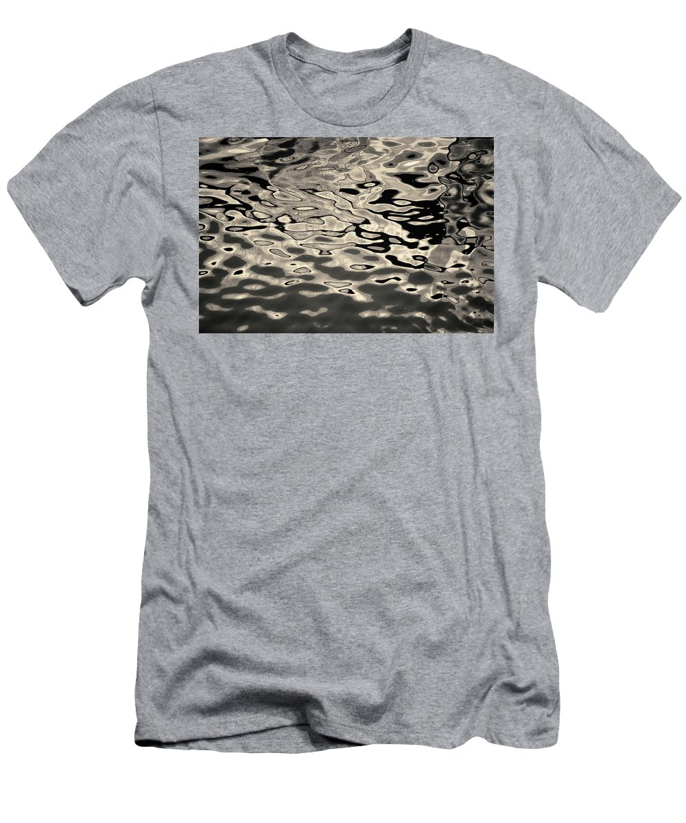 Abstract Men's T-Shirt (Athletic Fit) featuring the photograph Abstract Dock Reflections I Toned by David Gordon