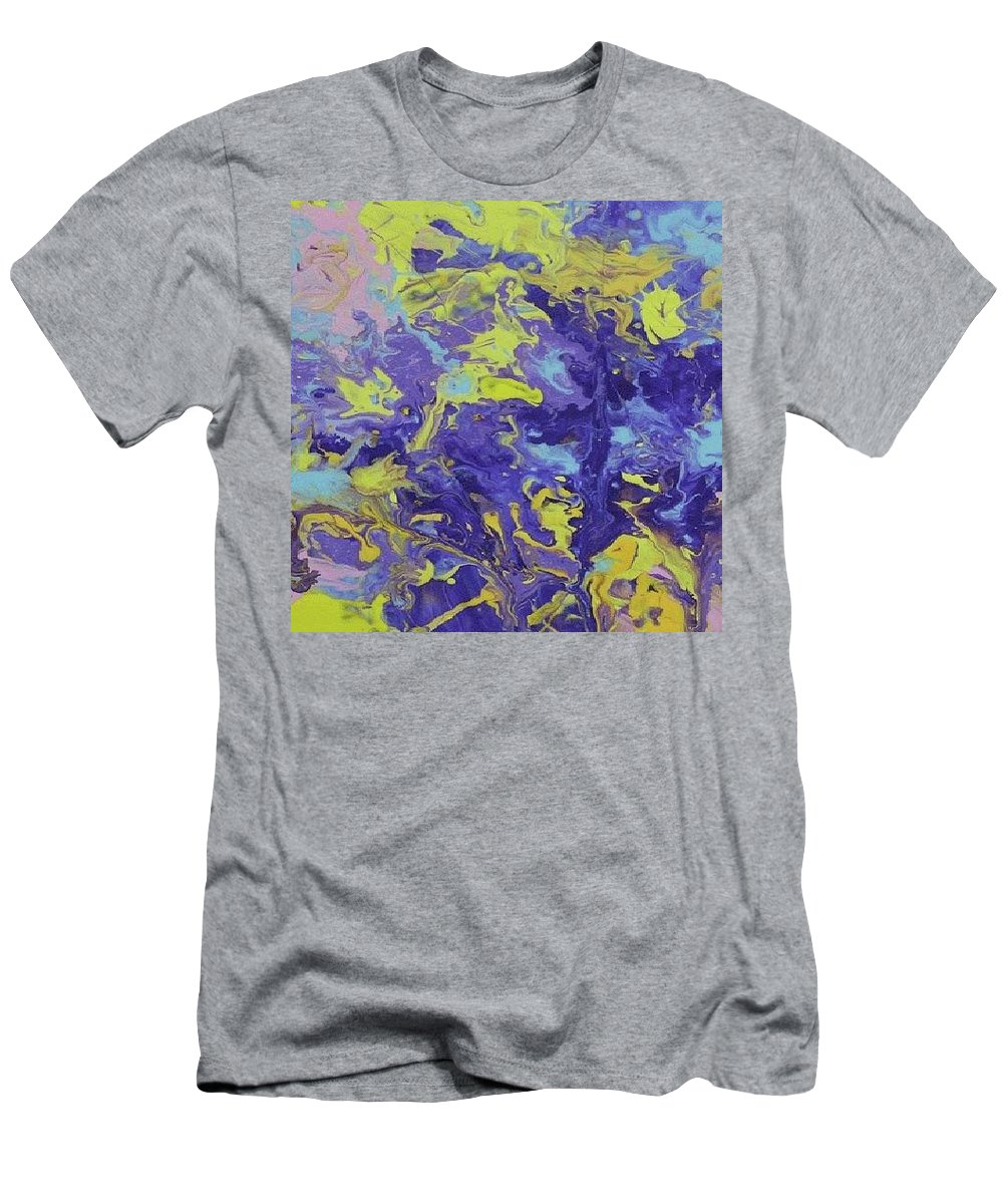 Abstract Men's T-Shirt (Athletic Fit) featuring the painting Abstract Duo by Nikos Zarras