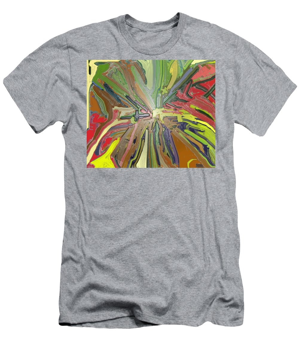 Absract Men's T-Shirt (Athletic Fit) featuring the digital art Abstract Garden Wrapped by Ian MacDonald