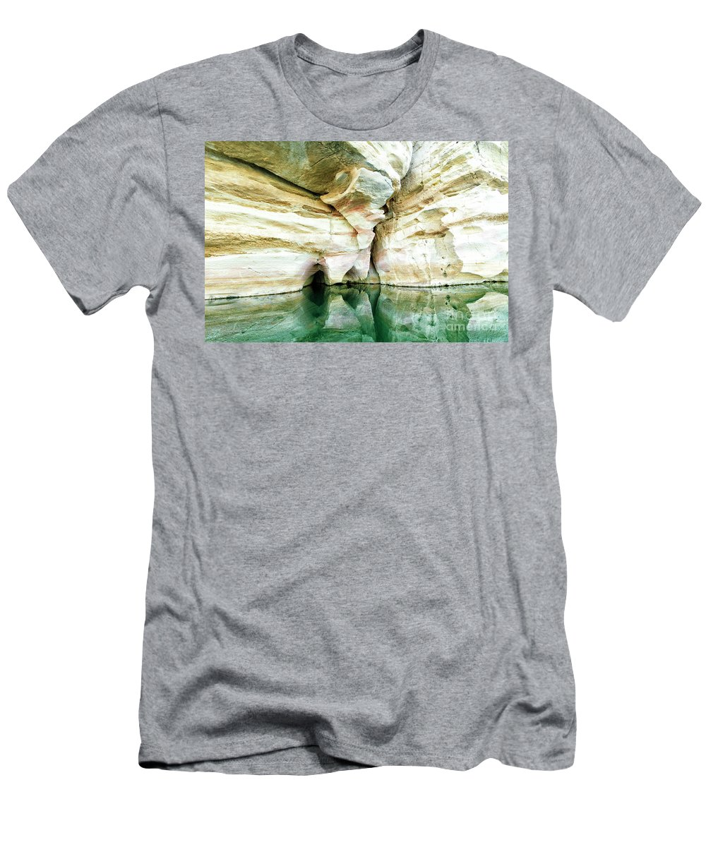 Abstract Men's T-Shirt (Athletic Fit) featuring the photograph Abstract Gorge by Genevieve Vallee