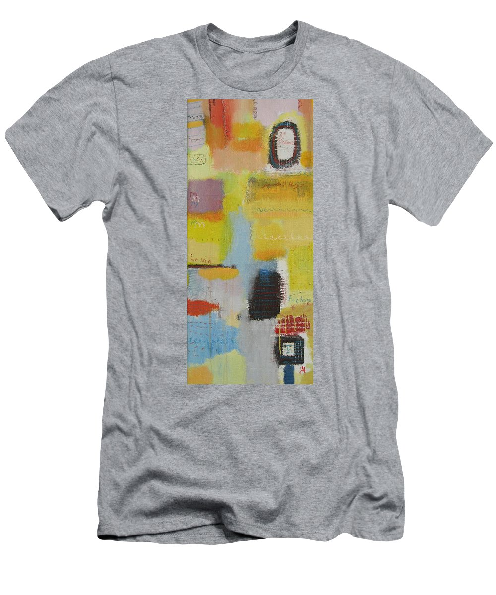 Abstract Men's T-Shirt (Athletic Fit) featuring the painting Abstract Life 3 by Habib Ayat