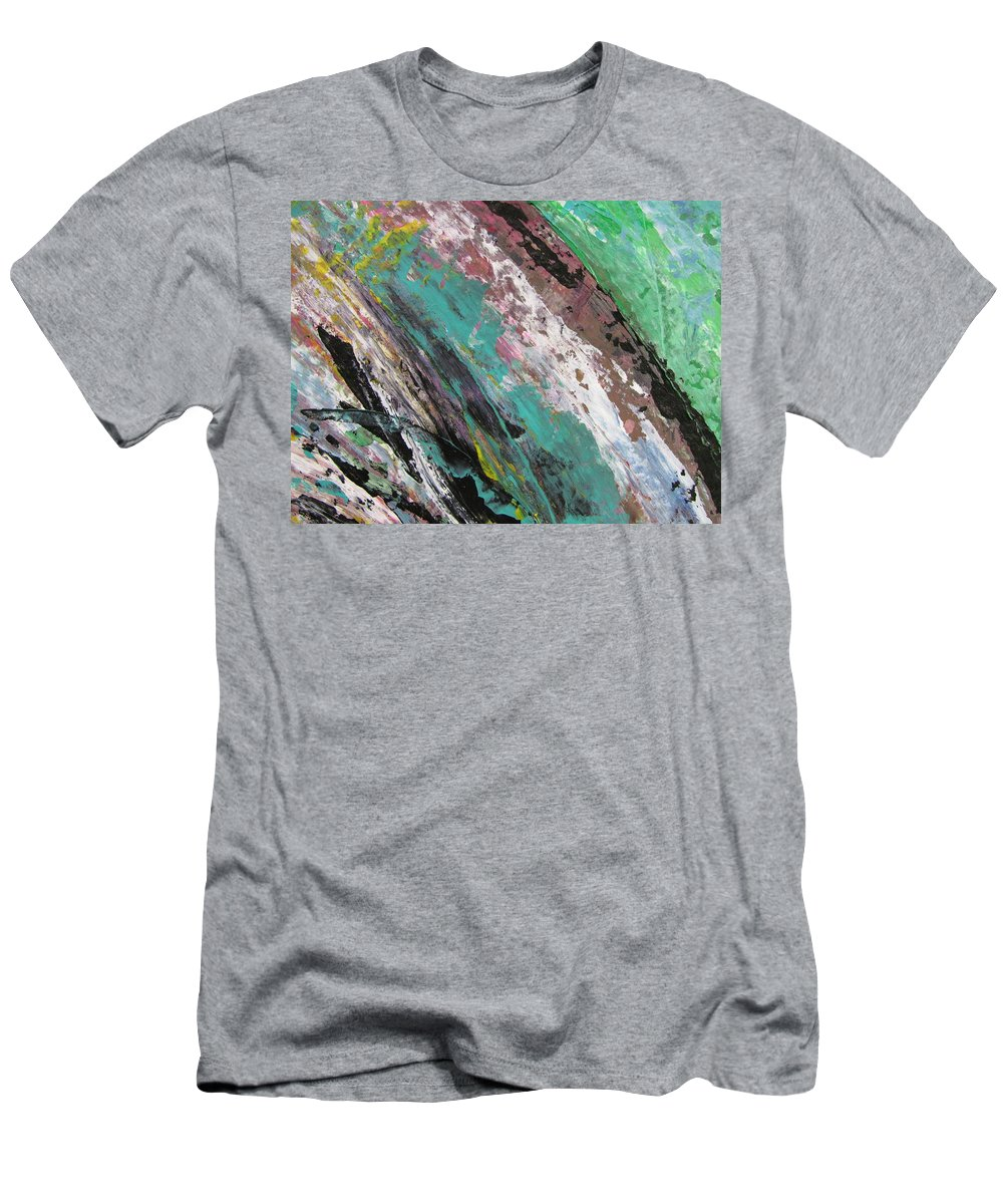 Abstract Men's T-Shirt (Athletic Fit) featuring the painting Abstract Piano 2 by Anita Burgermeister