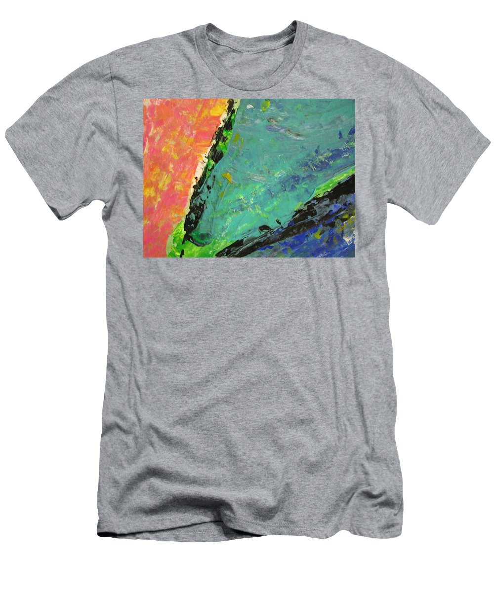 Abstract Men's T-Shirt (Athletic Fit) featuring the painting Abstract Piano 4 by Anita Burgermeister