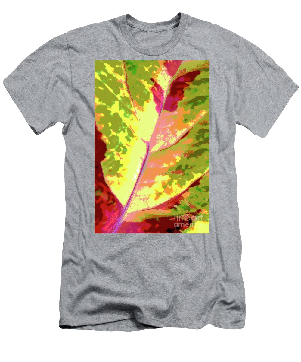 Abstract Men's T-Shirt (Athletic Fit) featuring the photograph Abstract Summer's End by Regina Geoghan