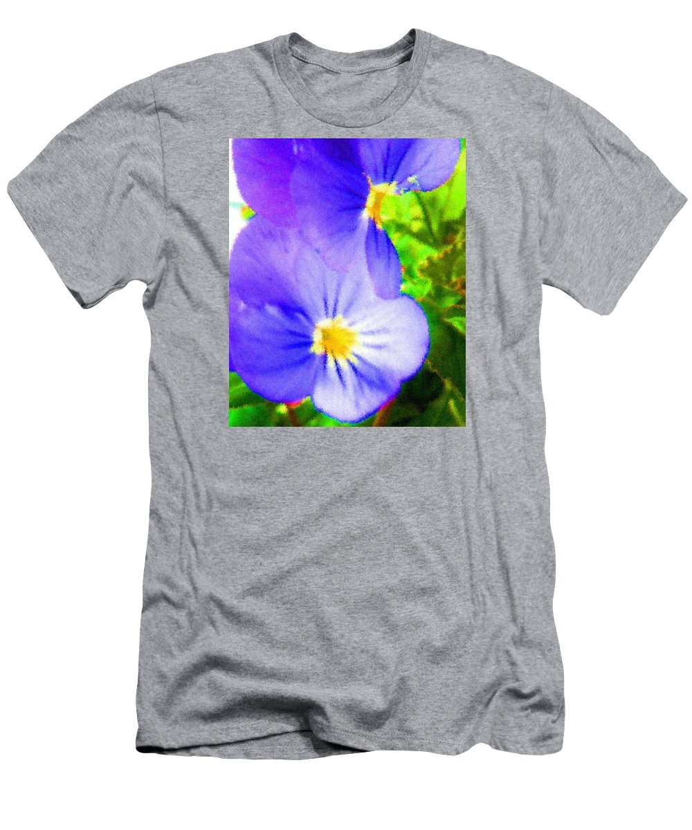 Landscapes Men's T-Shirt (Athletic Fit) featuring the digital art Abstract Violets by April Patterson