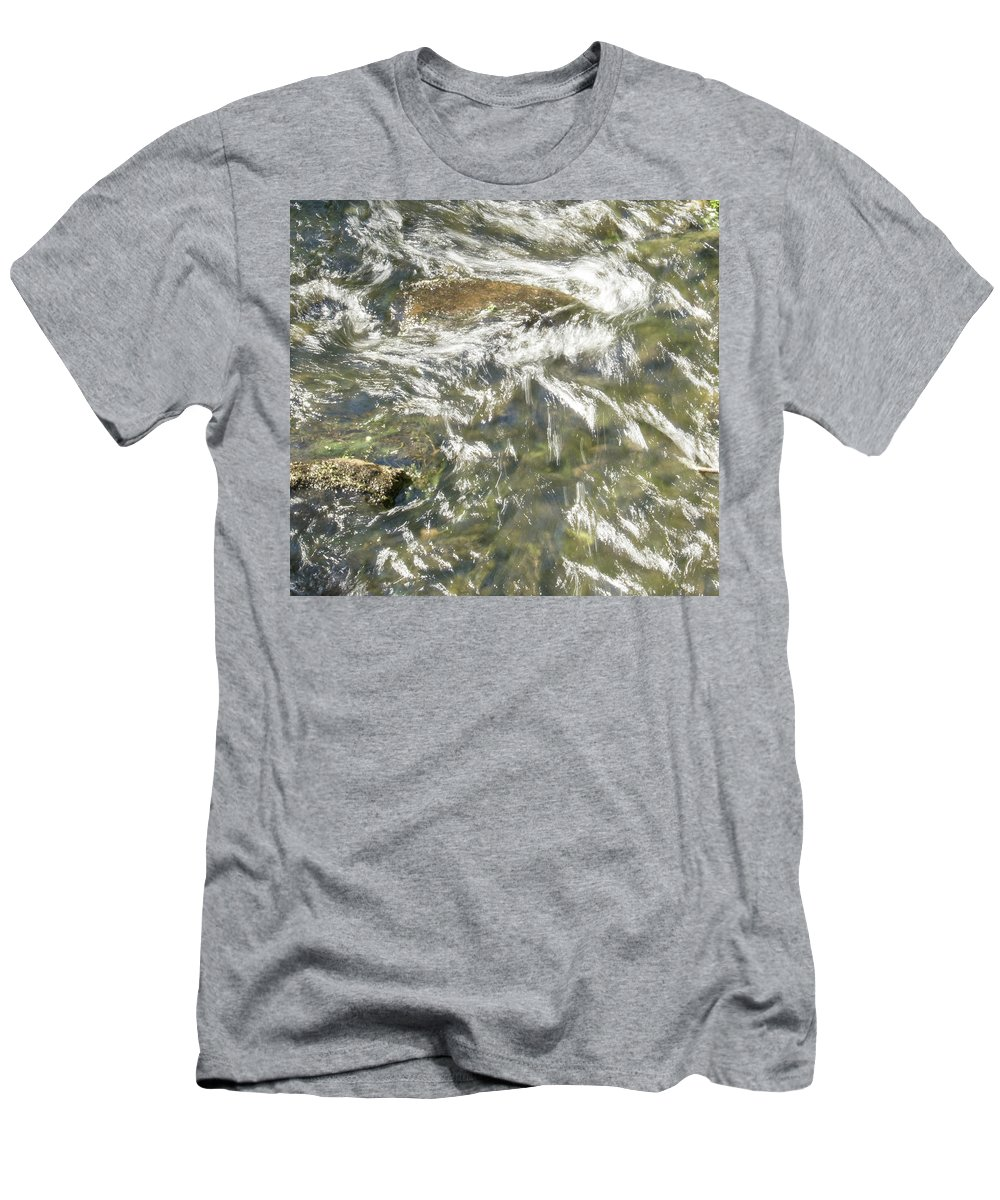 Water Men's T-Shirt (Athletic Fit) featuring the photograph Abstract Water Art Vi by Lori Lynn Sadelack