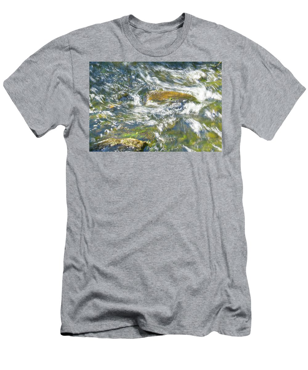 Water Men's T-Shirt (Athletic Fit) featuring the photograph Abstract Water Art Vii by Lori Lynn Sadelack