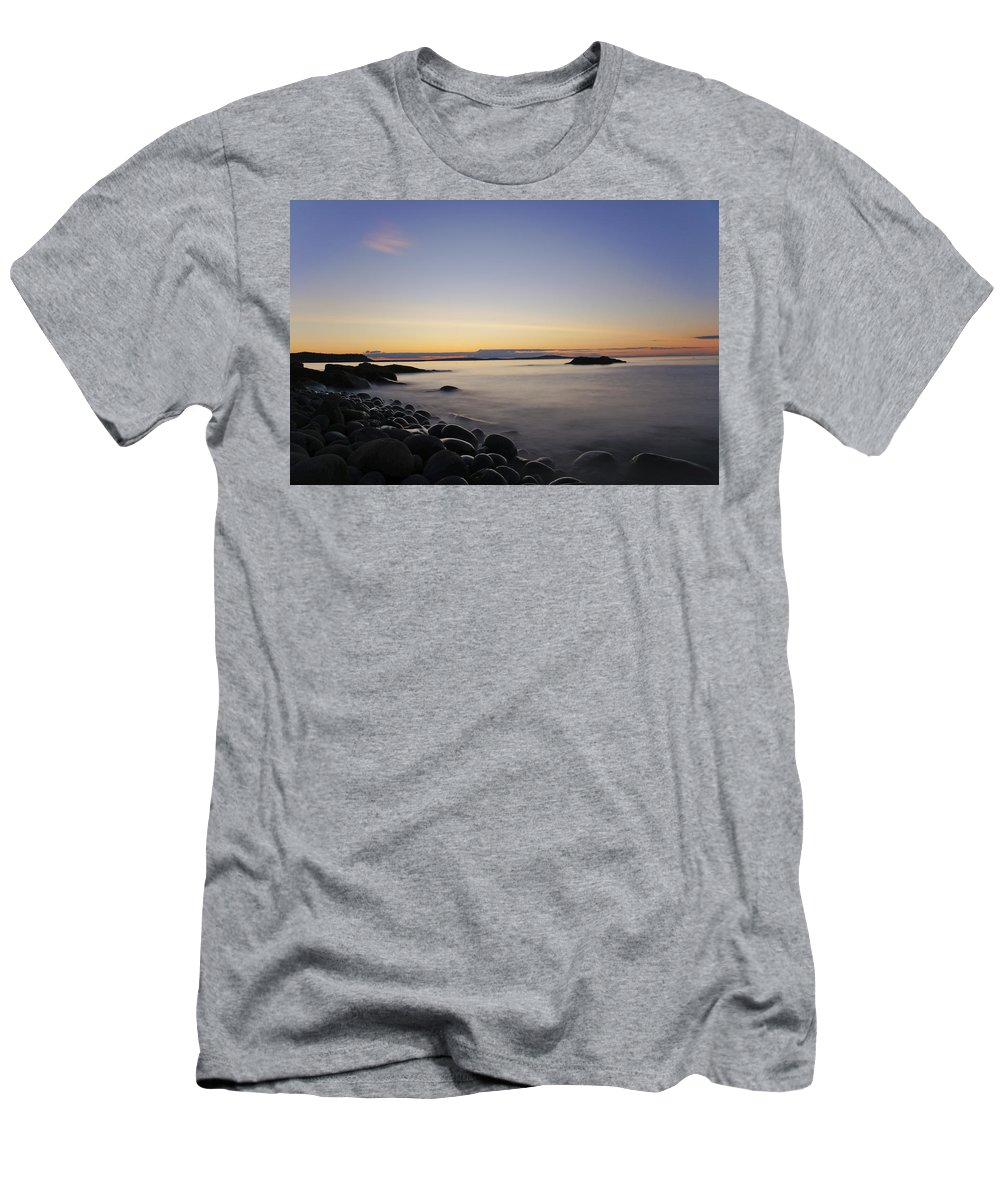 Acadia Men's T-Shirt (Athletic Fit) featuring the photograph Acadia Sunrise by Brian Kamprath