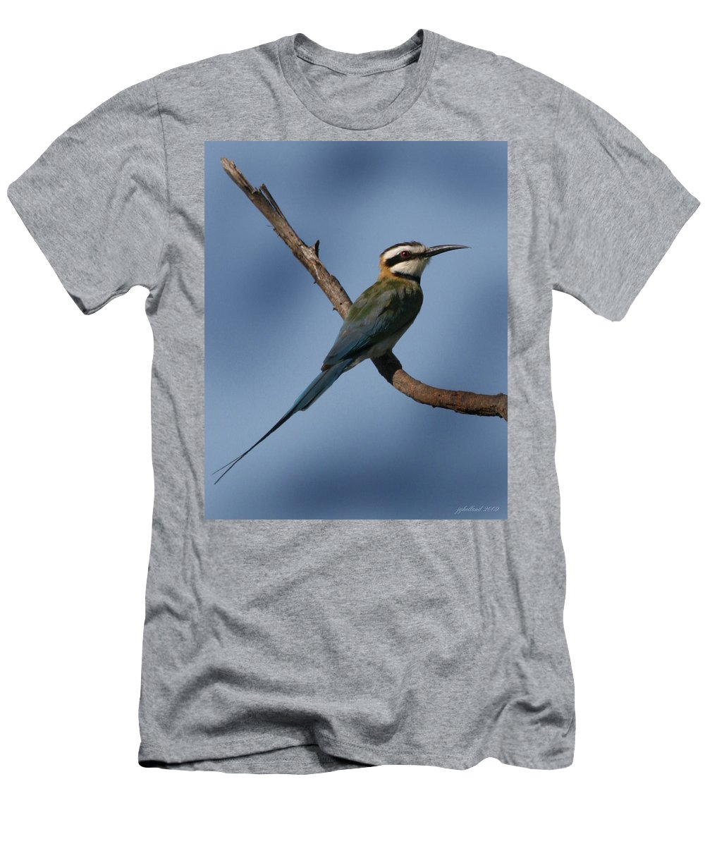 Bee Eater Men's T-Shirt (Athletic Fit) featuring the photograph African Bee Eater by Joseph G Holland