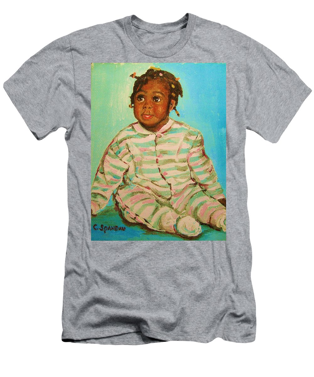 Africa Men's T-Shirt (Athletic Fit) featuring the painting African Cutie by Carole Spandau