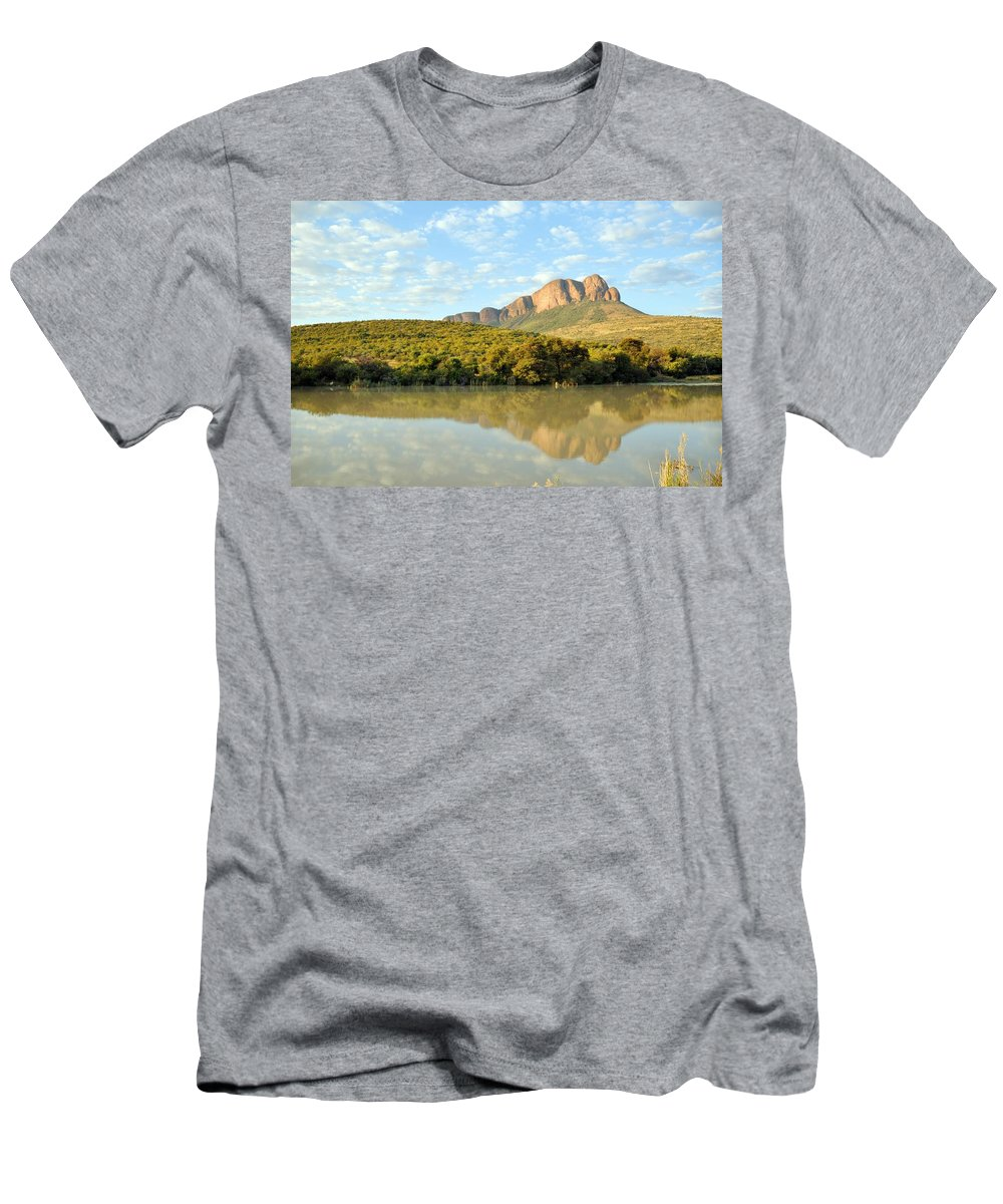 Mountain Men's T-Shirt (Athletic Fit) featuring the photograph African Landscape by Stiaan Els