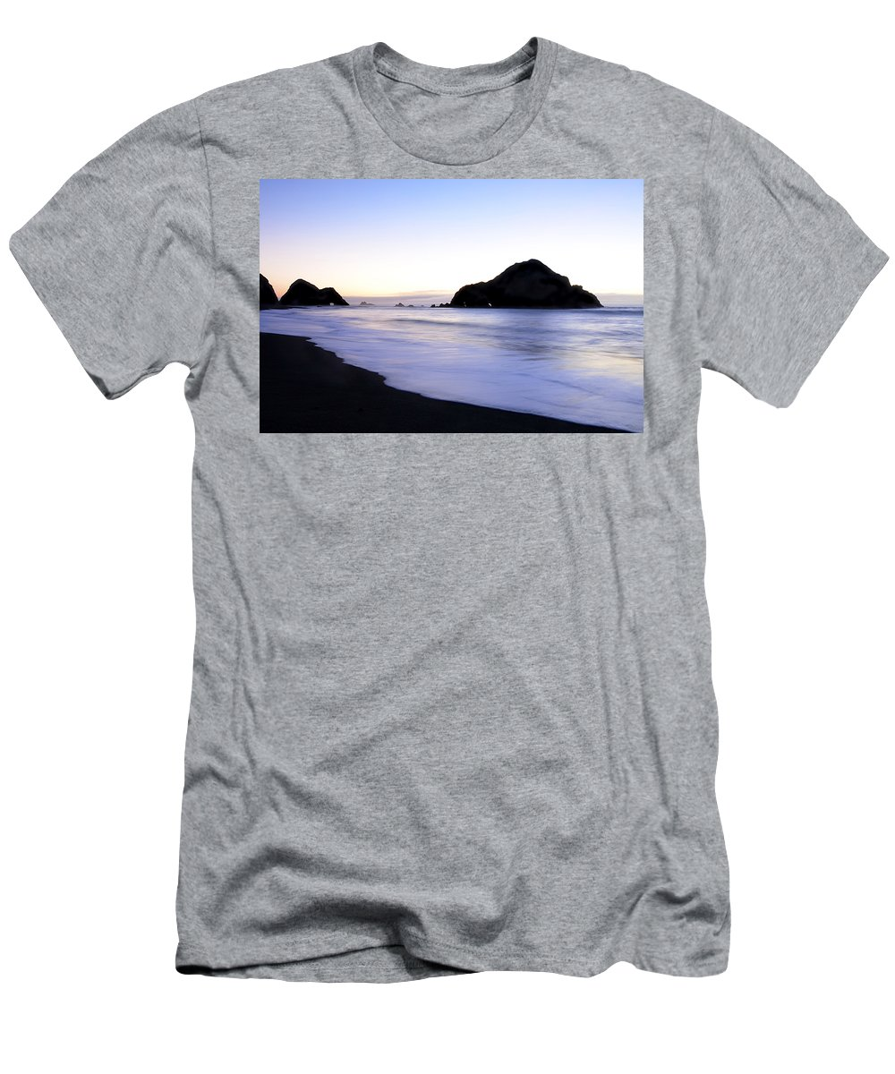Elk Beach Men's T-Shirt (Athletic Fit) featuring the photograph After Glow At Elk Beach 1 by Bob Christopher
