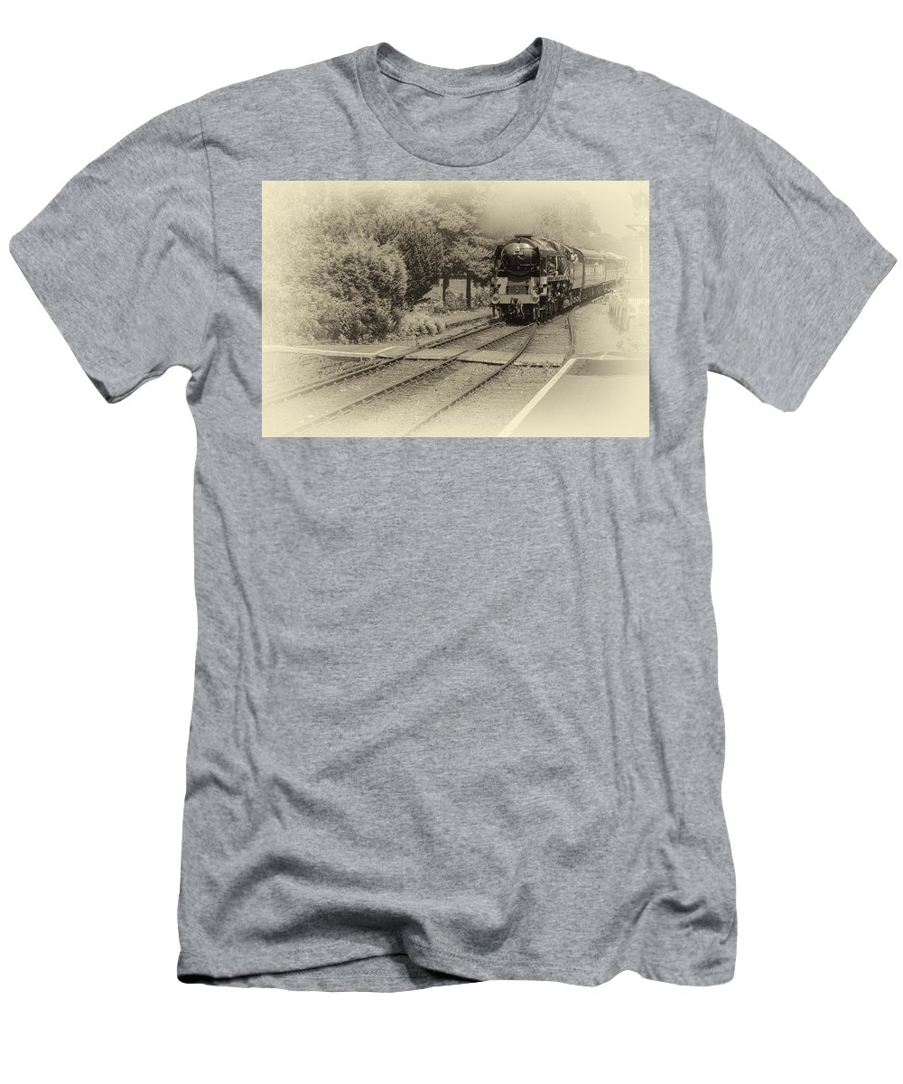 Steam Men's T-Shirt (Athletic Fit) featuring the photograph Age Of Steam by Tony Crehan