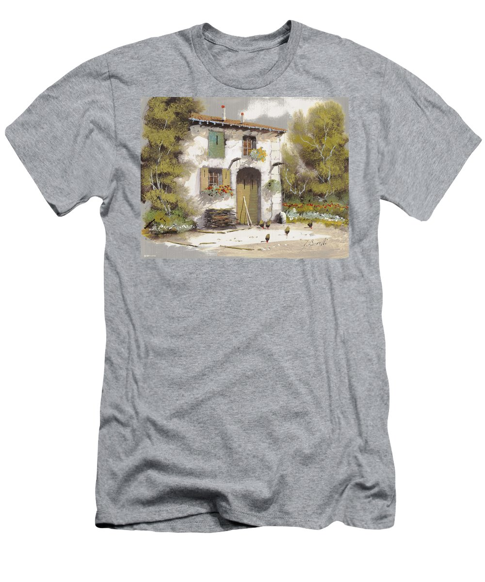 Country Men's T-Shirt (Athletic Fit) featuring the painting AIA by Guido Borelli