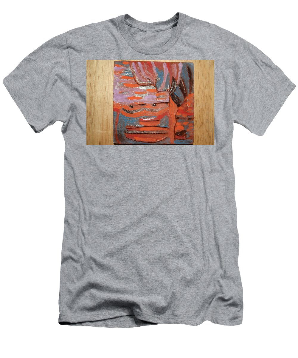 Jesus Men's T-Shirt (Athletic Fit) featuring the ceramic art Albert And Christine - Tile by Gloria Ssali