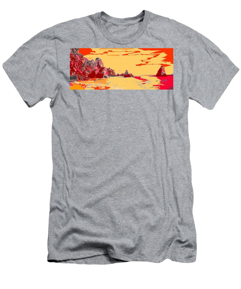 Mediterranean Men's T-Shirt (Athletic Fit) featuring the photograph Algarve Sunrise by Ian MacDonald